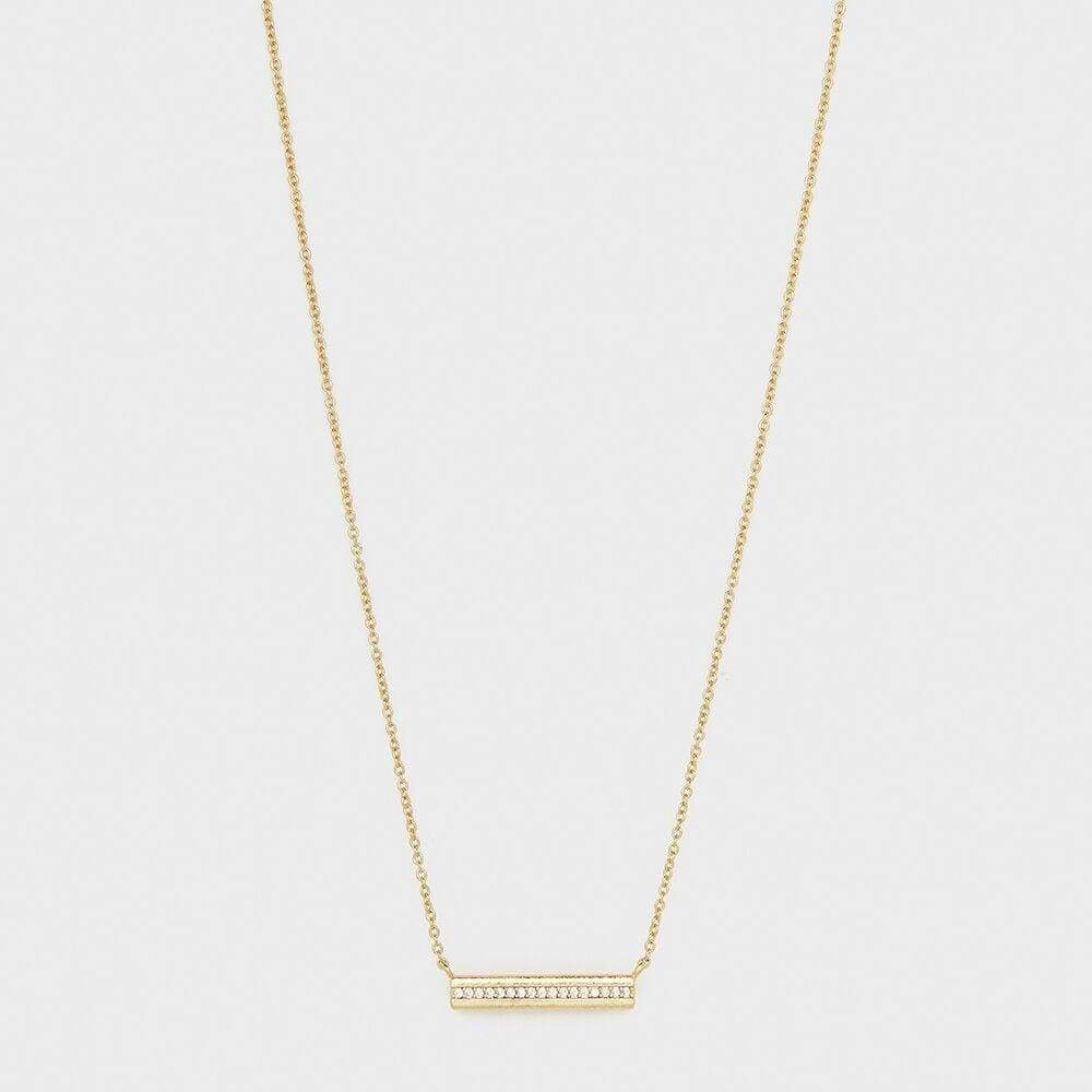 Gorjana Nia Shimmer Bar Necklace