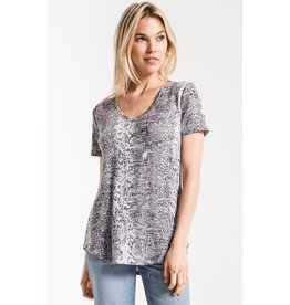 Z Supply The Snakeskin V Neck Tee