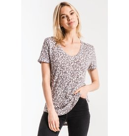 Z Supply The Leopard V Neck Tee