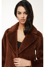 Soia & Kyo Rubina Relaxed Fit Embossed Wool Coat
