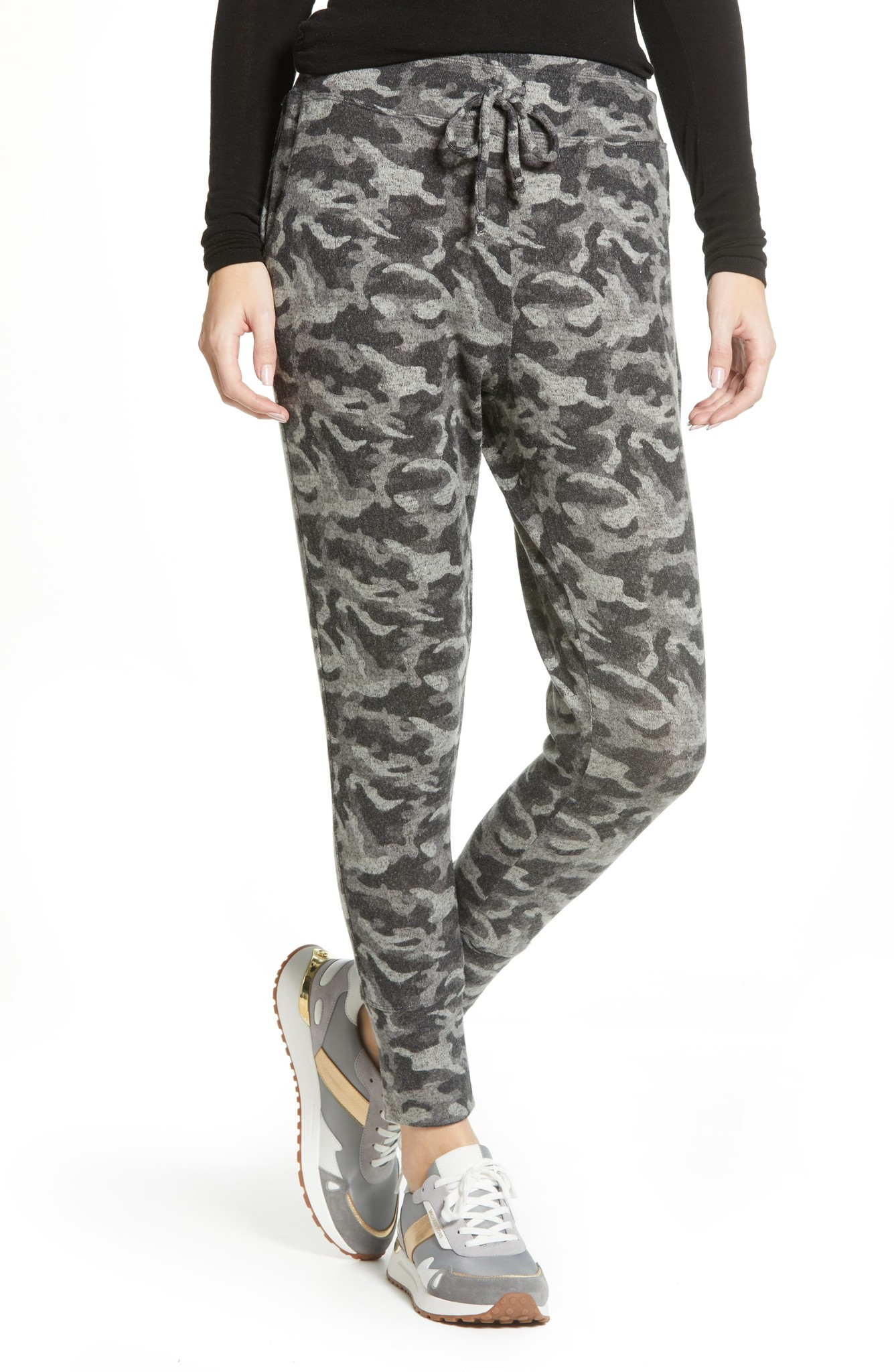 B Collection by Bobeau Brushed Jogger