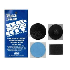 QUICK STRAP RE-MOUNTING KIT W/OUT BUTTON ( BLACK)