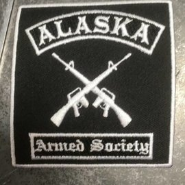 MAD HATTER DESIGNS ARMED SOCIETY PATCH