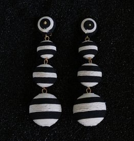 Jewelry KJLane: Lucille Balls / Black and White