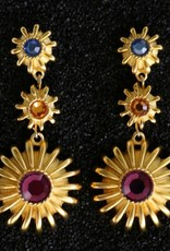 Jewelry KJLane: Multi Colored Drop Pierced