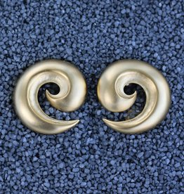 Jewelry KJLane: Swirl Satin Gold