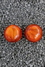 Jewelry Denaive:  Agnes Spruce Rich Orange Pierced