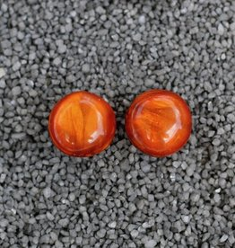 Jewelry Denaive:  Agnes Spruce Rich Orange Pierced