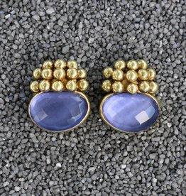 Jewelry Vaubel: Little Gold Balls with Amethyst