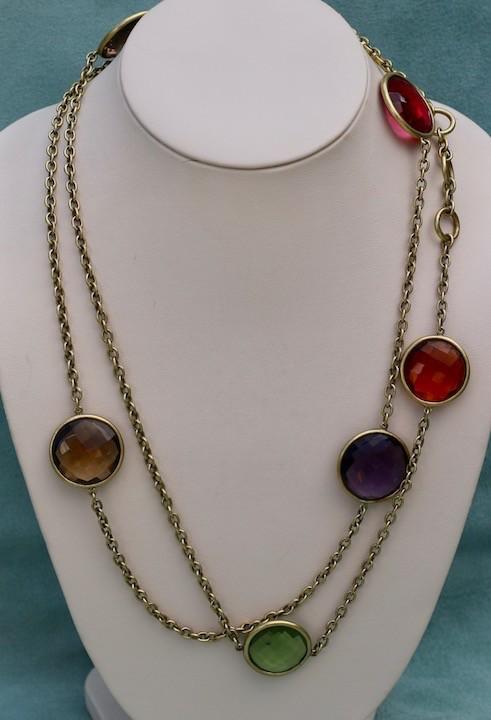 jewelry Vaubel: Semi Precious Discs on Chain