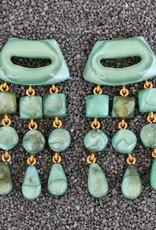 Jewelry Denaive: Tassel Drop Sea Foam Green