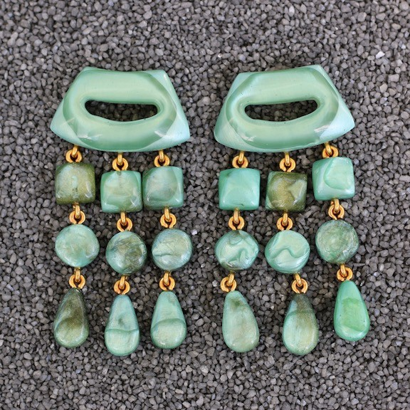 Jewelry Denaive: Tassel Drop Sea Foam Green