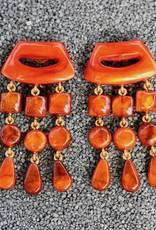 Jewelry Denaive: Tassel Drop Amber