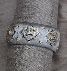 Jewelry Jardin: Satin Silver with Gold and Crystals