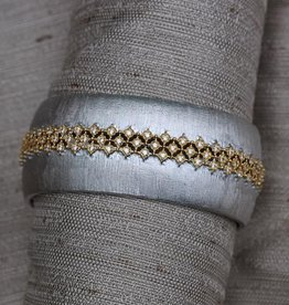 Jewelry Jardin: Satin Silver with Gold and Crystal Weave