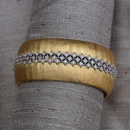 Jewelry Jardin: Satin Gold with Silver and Crystal Weave