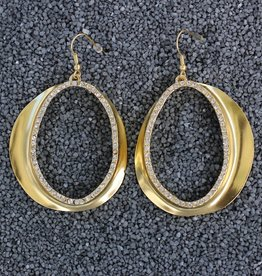 Jewelry KSultan: Gold Op Swirl Dangles Pierced