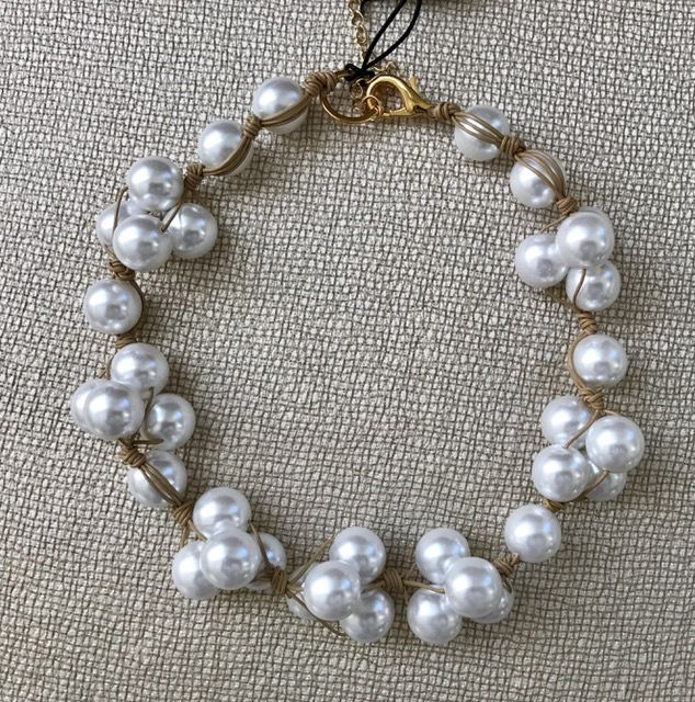 Jewelry VCExclusives: White Pearl on Putty Cord