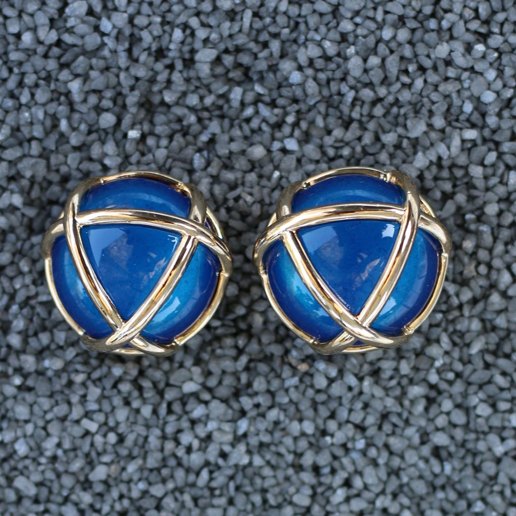 Jewelry VCExclusives: Gold Triangle / Med Blue