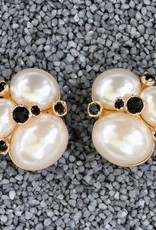 jewelry VCExclusives: Three Large Stones w/Pearl<br /> Black Stones