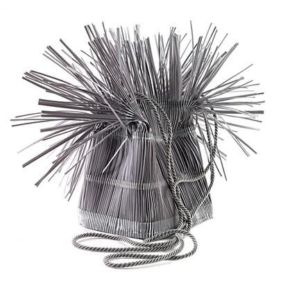 Accessories VCExclusives: It Is Silver Straw Bag