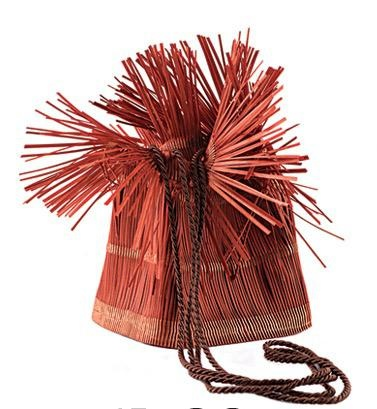 Accessories VCExclusives: It Is Copper Straw Bag