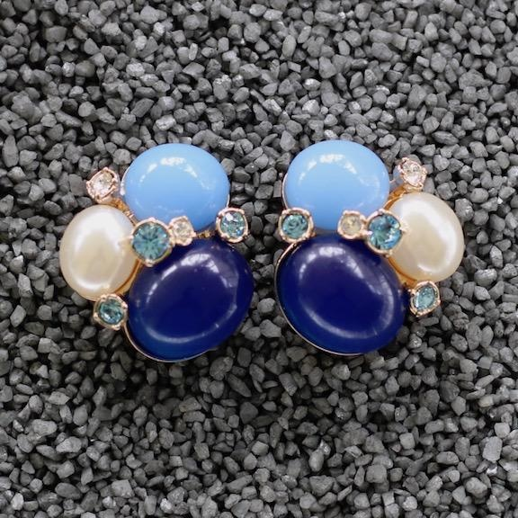 Jewelry VCExclusives: Three Large Stones w/Blue Pearl Stones