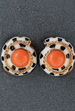 Jewelry VCExclusives: Spotted Ivory & Cable Swirls w/Coral Center