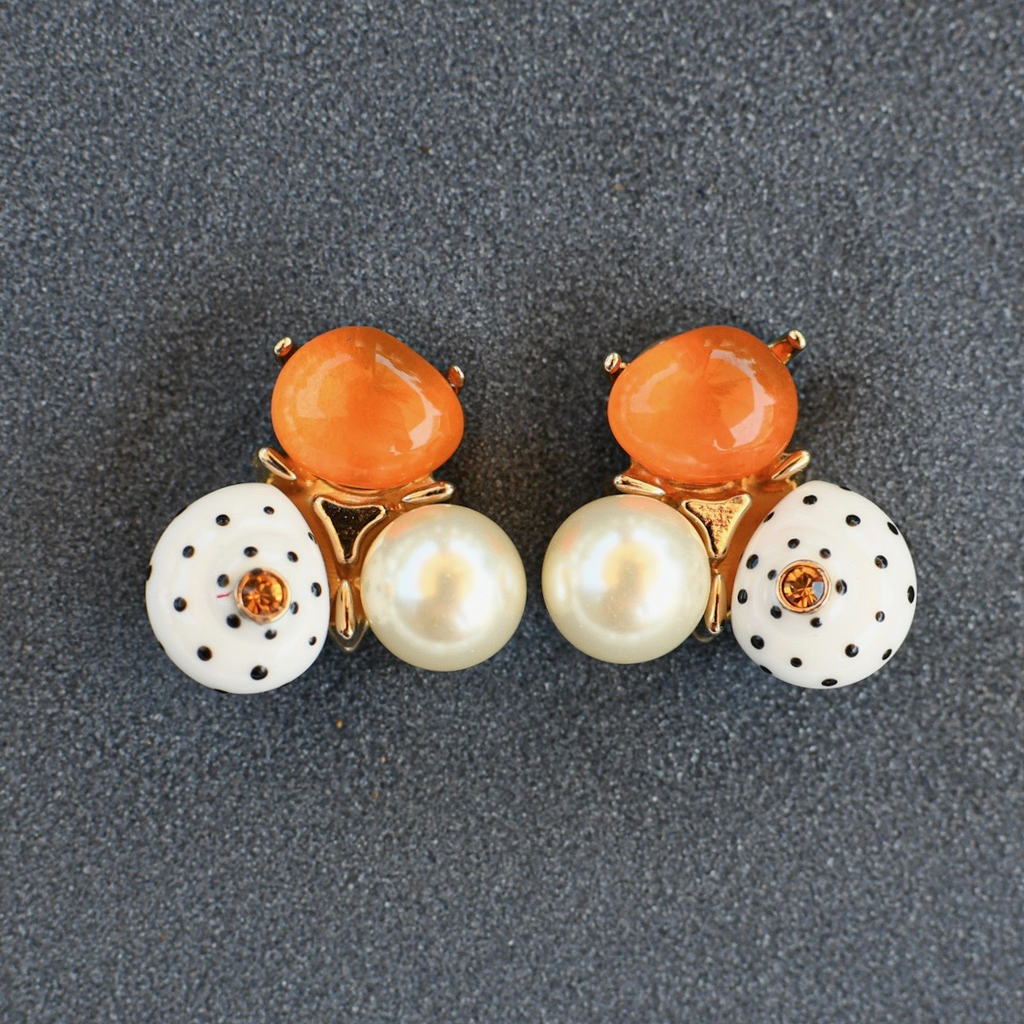 jewelry VCExclusives: Jen Orange Pearl Dots
