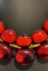 Jewelry Denaive: Andrea Red Bubbles