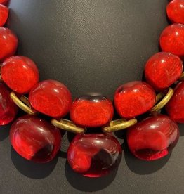 Jewelry Denaive: Andrea Red Bubbles