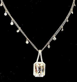 Jewelry Jardin: Sterling with Rectangle Crystal