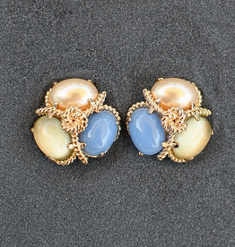 jewelry VCExclusives: Robin Pearl Lemon Blue Pierced