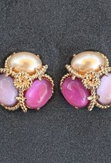 jewelry VCExclusives: Robin Pearl Dk Pink Lav Clip