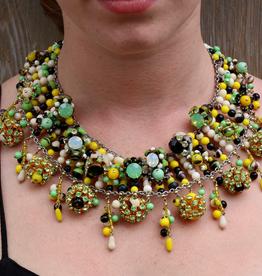 Jewelry FMontague: Dara Green Yellow Black