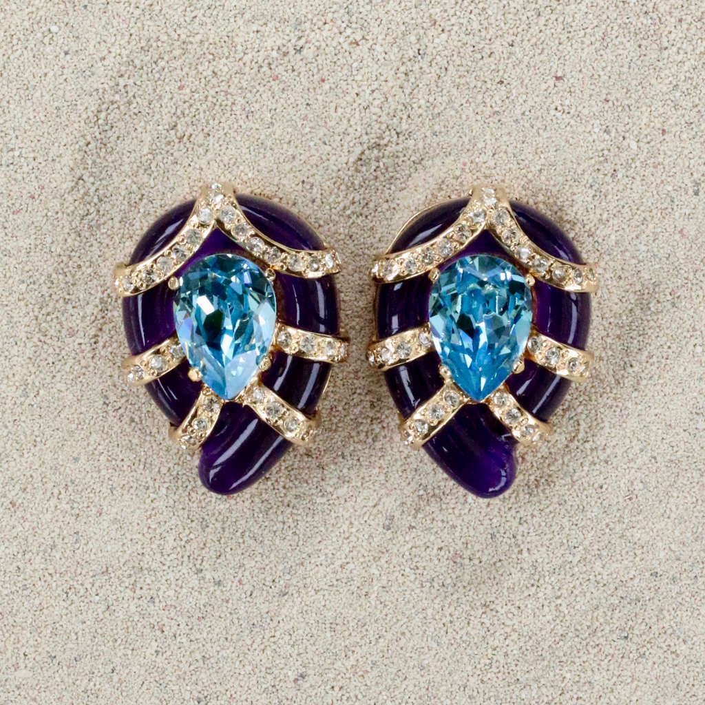 Jewelry VCExclusives: Sandra Aqua and Purple Gold with CZ