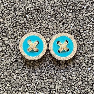 Jewelry VCExclusives: Buttons / Turquoise w/Crystals