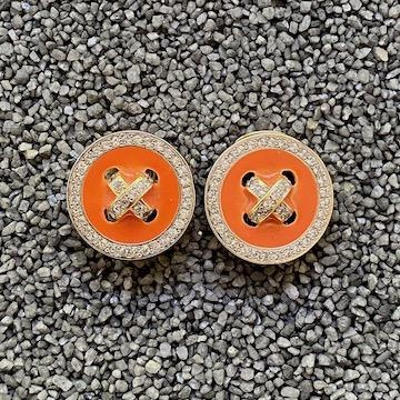 Jewelry VCExclusives: Buttons  / Coral w/Crystals