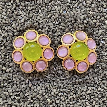 Jewelry VCExclusives: Neon Green & Silver Honeycomb
