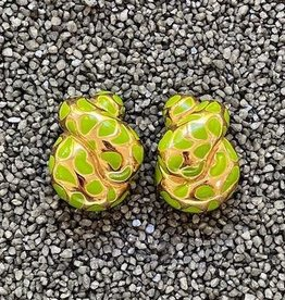 Jewelry VCExclusives: Leopard Coils Green & Gold