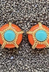 Jewelry VCExclusives: Turquoise & Gold Rope Pops in Coral