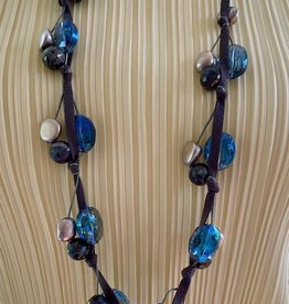 Jewelry VCExclusives: colored crystals on cord and ribbon