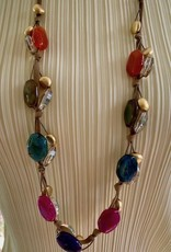 Jewelry VCExclusives: Agate and Bronze on cord and ribbon