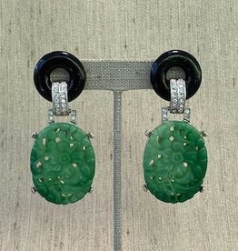 Jewelry KJLane: Carved Jade with Black Top lg