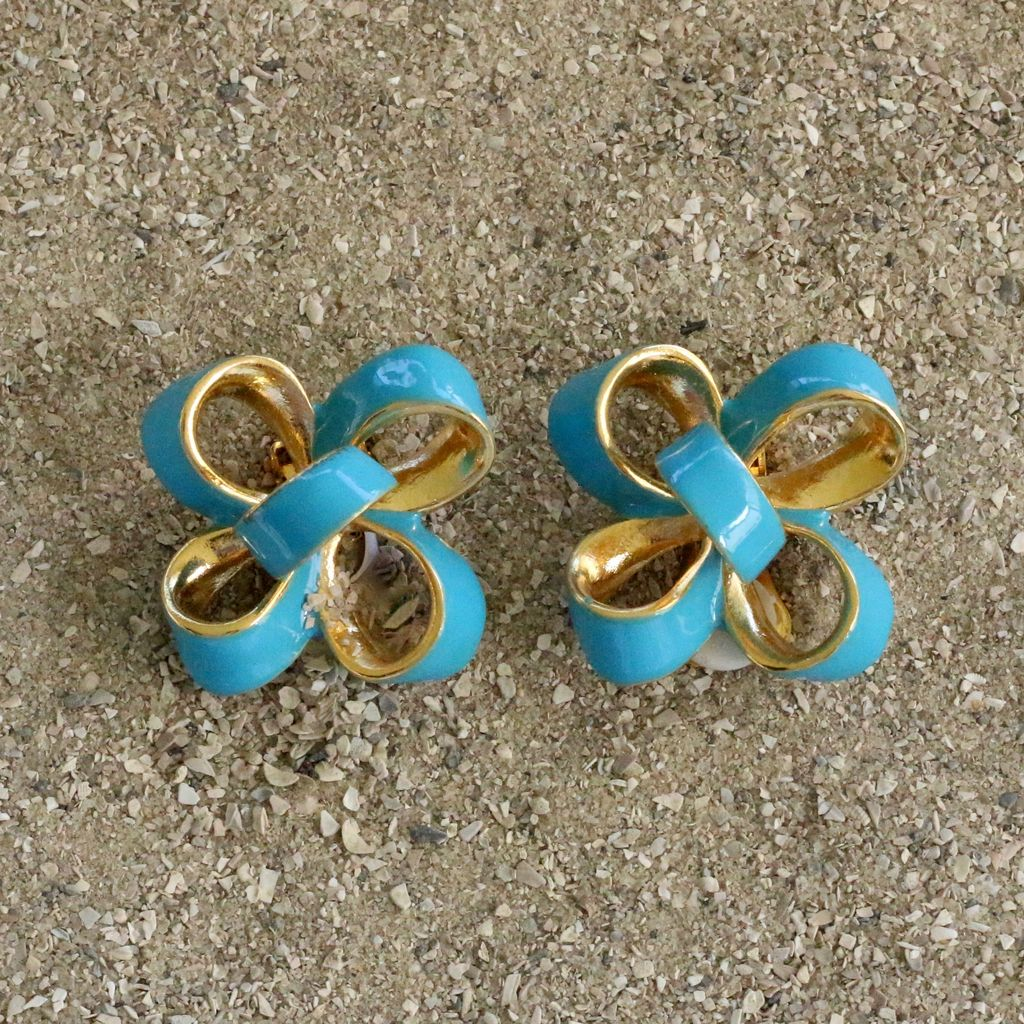 Jewelry KJLane: Candy Bow Turquoise