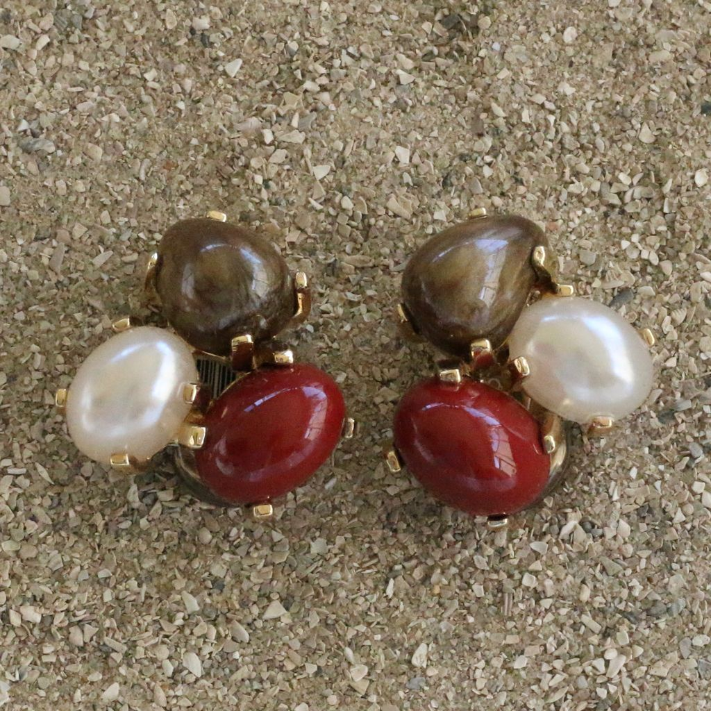 Jewelry VCExclusives: Tri Colored Drops Dark Autumn Pearl