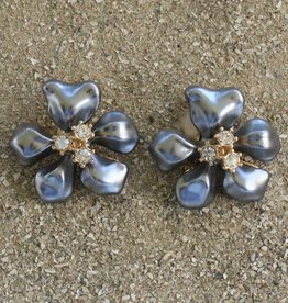 Jewelry KJLane: Flower Gray Pearl