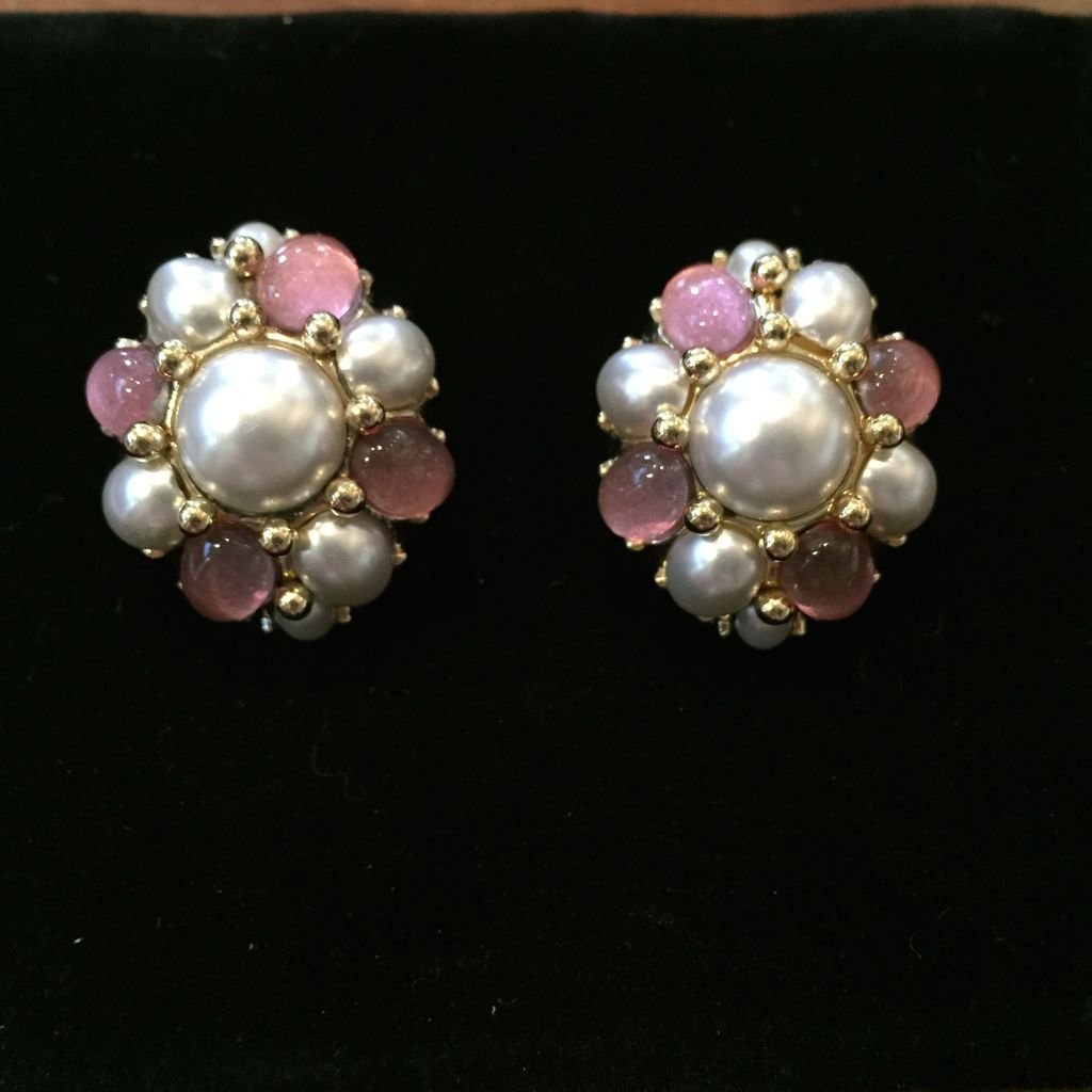 Jewelry VCExclusives: Starburts in Pearl w/Pink Details