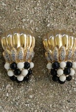 Jewelry VCExclusives: Gold Cascades w/Black & White Clusters