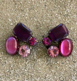 Jewelry BLINN: four Stone Pomegranate & Wine
